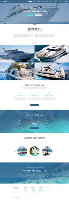Template 61122 - Yacht Chartering Responsive Website Template