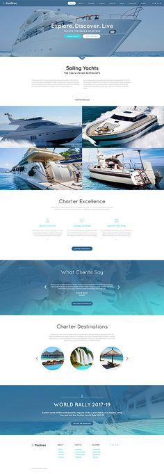 Template 61122 - Yacht Chartering  Responsive Website Template