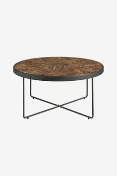 Ellos Home Sofabord Gellina Ø 80 cm - Brun - Sofabord - Ellos.no Living Spaces, New Homes, Room Decor, Coffee, Table, Furniture, Brown, Modern, Marble