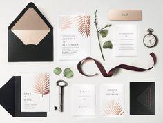 19. Sample Foil Botanical Tropical Wedding Invitation Modern