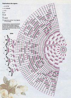 Kira scheme crochet: Scheme crochet no. Filet Crochet, Crochet Doily Diagram, Crochet Doily Patterns, Crochet Mandala, Thread Crochet, Crochet Doilies, Knit Crochet, Crochet Kitchen, Crochet Home