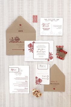 Ruby & Willow Custom Wedding Stationery Bronte Suite