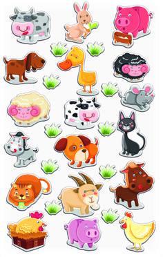 Maildor 'Cooky' sticker 7,5x12cm Farm animals - 560352