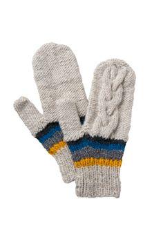 手編みフェアアイル手袋