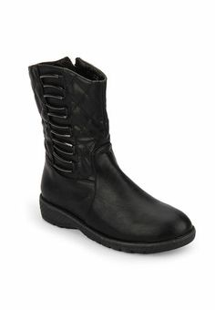 Go girl, rule the streets when you wear this pair of boots from the house of Step Pings. Contrasting upper and sole make this sleek pair of boots flexible and hard wearing.