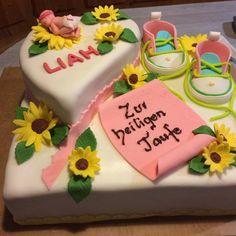 Tauftorte Cake, Desserts, Food, Pies, Tailgate Desserts, Pie, Kuchen, Dessert, Cakes