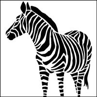 Zebra stencils from The Stencil Library. Stencil catalogue quick view page