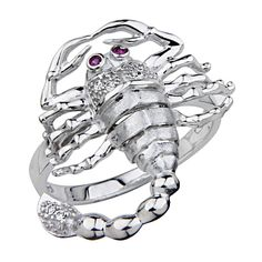 925 Sterling Silver Rhodium Plated Desert Scorpion Men's Ring - Size 11. Promptly Packaged with Free Gift Box. Made From Beautiful .925 Sterling Silver. Fashionable and elegant styling. Special manufacturing process held to ensure less tarnish.