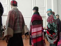Knitwear design at the ITS competition in Trieste.