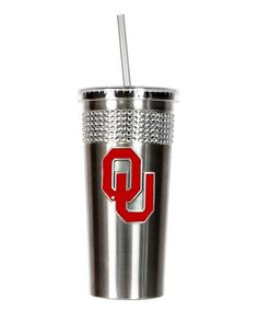 Oklahoma Sooners Stainless Steel Bling Tumbler by Great American Products