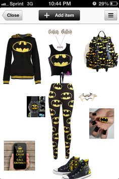 Cute batman outfit. Clothes shoes accessories.