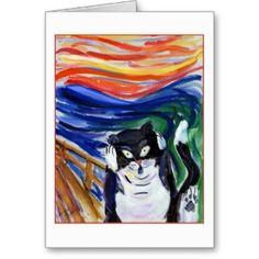 Kitty Scream Greeting Card