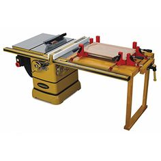 Powermatic 5 HP 10 in. Three Phase Left Tilt Table Saw with 50 in. Accu-Fence, Workbench and Riving Knife