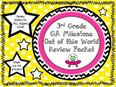 The Georgia Milestone Out of this World Review Packet is a awesome way to have your student review before The Geogia Milestone Assessment!  The packet is aligned to the 3rd grade Common Core Standards for Reading and Math and GPS's for Science and Social Studies!