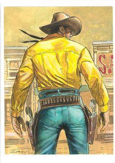 Galeria de Arte: Tex e os Heróis Bonelli - Página 8 Cowboy Art, Western Cowboy, Caricature, Comic Frame, Lee Van Cleef, Heroes Reborn, Western Comics, Tv Westerns, Bull Riders