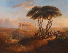 jenaro perez villalmi paisaje oriental con ruinas clasicas