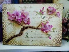 Resultado de imagen para cajas con arte frances Stencils, Stencil Painting, Fabric Painting, Painting On Wood, Chinese Painting Flowers, Pintura Country, Decoupage Paper, Flower Crafts, Vintage Paper