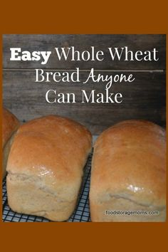 Easy Whole Wheat Bread Recipe Anyone Can Make | via www.foodstoragemoms.com