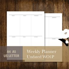 Personal Size Weekly Planner  Printable Full Moon Monthly