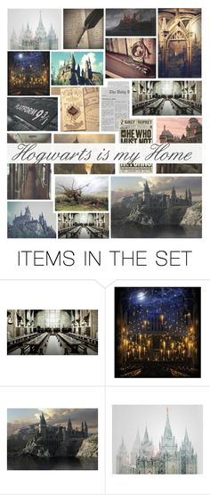 """Hogwarts is my Home"" by asiyaoves ❤ liked on Polyvore featuring art"