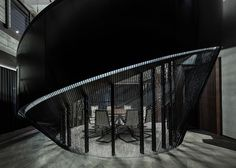 This magnificent three-storey penthouse situated in Shanghai's Xintiandi district was stunningly designed by Joyce Wang Studio. Residential Architecture, Interior Architecture, Luxury Interior, Home Interior Design, Back Bar Design, Shanghai, Bookstore Design, World Festival, Interior Stairs