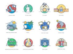 Hi Dribbble,  Here are some new icons \ small illustrations that we recently made.  If you like it, don't forget to push
