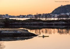 Looks at Aalesund, cod fishing, sunset and kayaking.