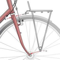 Front rack install points using eyelets Bicycle Rack, Bicycle Helmet, Steel Racks, Cycle Chic, Bicycle Women, Rack Design, Bike Parts, Bike Frame, Front Brakes