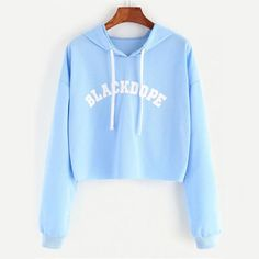 To find out about the Hooded Letter Print Crop Sweatshirt at SHEIN, part of our latest Sweatshirts ready to shop online today! Cute Summer Outfits, Casual Outfits, Casual Dresses, Kohls Dresses, Dresses Dresses, Casual Summer, Summer Dresses, Winter Dresses, Stylish Dresses