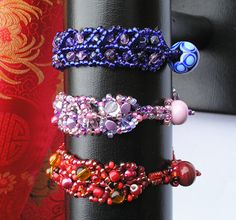 Stash Buster 'Bubble and Squeak' Beaded Bracelet - Free Beading Pattern