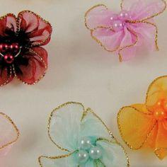 Organza flower - Google Search