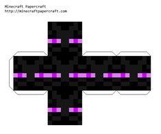 Papercraft Face Block - Enderman