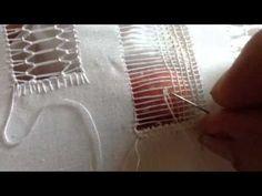 ▶ Deshilado : hacer cuadritos usando la vainitas - YouTube