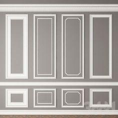 Home Room Design, Home Interior Design, Living Room Designs, Living Room Decor, House Design, Design Bedroom, Design Design, Wall Panel Molding, Wall Trim