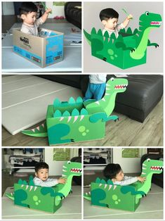 The best Easy Activities for Kids at home. Cheap and easy to set up indoor activities using common household items and/or recycled materials Dinosaur Activities, Toddler Learning Activities, Craft Activities For Kids, Infant Activities, Preschool Crafts, Fun Crafts, Dinosaur Projects, Indoor Activities, Dinosaur Crafts Kids