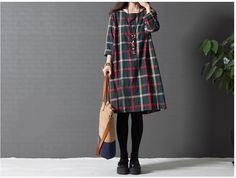 Vestido solto de linho do Vintage primavera, verão mulheres estilo coreano tamanho grande vestidos de algodão ladies feminino em Vestidos de Roupas e Acessórios no AliExpress.com   Alibaba Group