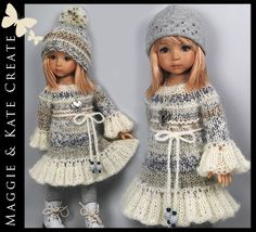"Winter Outfit for Little Darlings Effner 13"" by Maggie & Kate Create. SOLD for $86.00 on 2/5/15"
