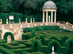 Jardins del Laberint d'Horta: hedge maze labryinth