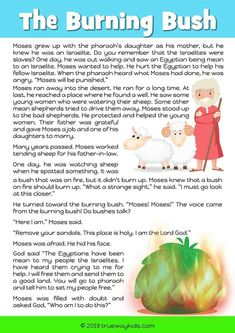 Moses and the Burning Bush - Free Bible lesson for under - Trueway Kids Kids Church Lessons, Kids Sunday School Lessons, Sunday School Activities, Preschool Bible Lessons, Bible Lessons For Kids, Bible Activities, Church Activities, Bible Stories For Kids, Bible Study For Kids