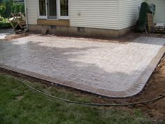 stained concrete patio with border | love the home you're in ... - Patio Cement Ideas