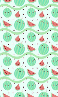 Kawaii Watermelon Wallpaper.