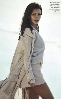 Kim Kardashian West for Vogue Australia, shot by Gilles Bensimon