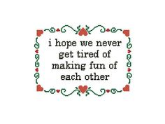 Sweet cross stitch pattern Romantic Quote Love Cross Stitch