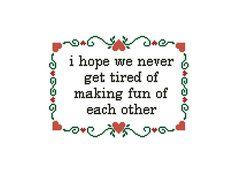 Sweet cross stitch pattern Romantic Quote Love Cross Stitch
