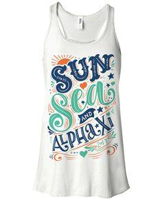 Sun Sea and Alpha Xi - Alpha Xi Delta Spring Break Tank