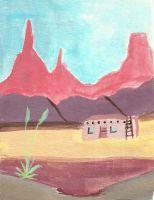 southwestern adobe by HaleyGottardo
