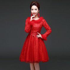 aecc686ac0cfe Winter Traditional Chinese Dress Red Bride Marry Cheongsam Qipao Wedding  Dress Cotton Robe Orientale Oriental Evening