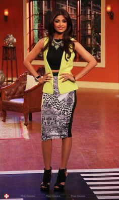 Cheeta print skirt with lime and black shirt with belt