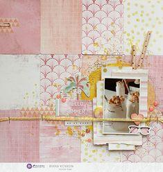 Riikka Kovasin - Paperiliitin: Hello Summer! - Prima Marketing Prima Marketing, Hello Summer, Paper Straws, Summer Vibes, Card Stock, To My Daughter, Vibrant, Watercolor, Pattern