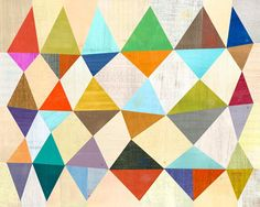 Would make a great quilt! geometric print by melanie mikecz